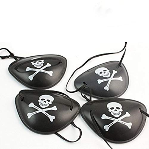 12 Pack Pirate Eye Patches for Halloween, Pirate Costume -