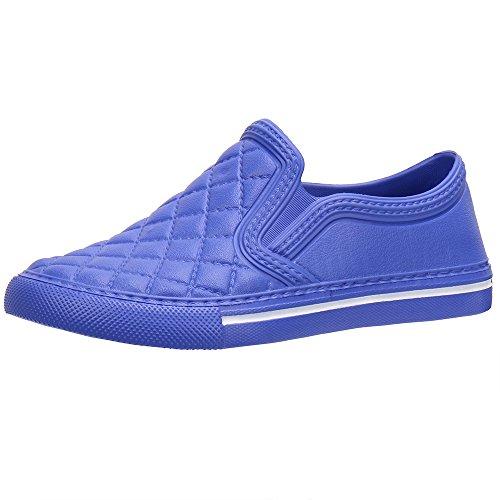 Cooga Ultralight Waterproof Women's Flat Slip-On Comfy Walking Garden Shoe Blue