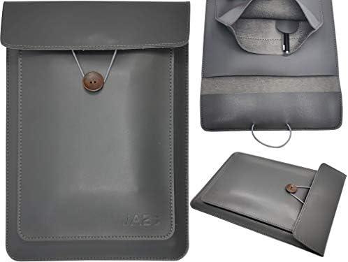 JABs Laptop Tasche passend für MacBook Hülle Laptophülle Veganes Leder Hochwertig Sleeve Notebook Bag kompatibel mit 13-13,5 Zoll Laptops MacBook Air MacBook Pro Retina IPad Stifthalterung Matt-Grau