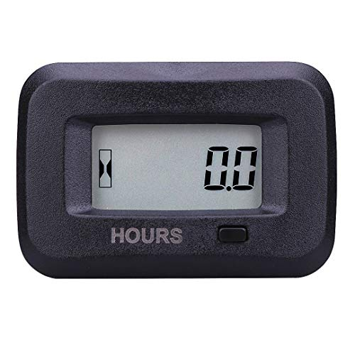 SEARON Digital Inductive Engine Hour Meter and AC/DC Hour Meter of 5-277 Volt for Generator Motocross Tractor Cultivator ATV Trailer Sprayer Compressor Robot Milking Trimming