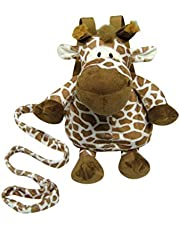 Animal Planet 2 in 1 Harness Backpack, Giraffe, Brown, White, Child Leash, Baby Walking Safety Harness, Kid Backpack with Tether, Toddler Travel, Wrist Leash
