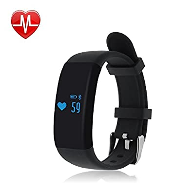 Sudroid D21 Fitness Tracker,Touch Screen Accurate Sleeping Monitor Pedometer Smart Band Wireless Activity Wristband (Black)