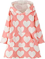 Kids Girls Hoodies Dresses Long Sleeve Cotton Pullover Jumper Tops Age 2-7 Years