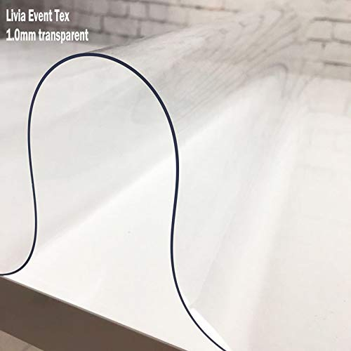 1.0mm Transparent 80X140cm JKHSZKHH Le PVC nappe1.00mm1.5mm Soft Glass Transparence PVC Table Cloth imperméable Party imperméable Party mariage Home Kitchen Dining Placemat Pad Thickness 1.0mm 80X140cm 1,0 mm Transparent