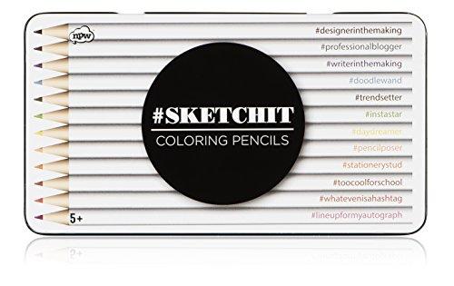NPW-USA Sketchit Coloring Pencils, 12-Count