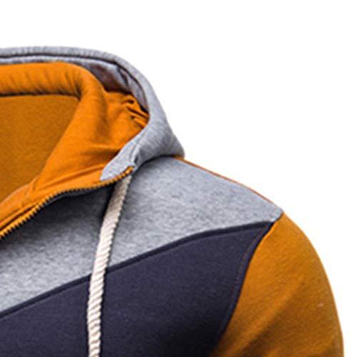 Giacca Del Giacche Manica Felpa Con m~xxl Outwear 20 Senza Oro Lunga Cappuccio Cotone Uomogo miscela Uomo Cappuccio Retro W8PF6Rc
