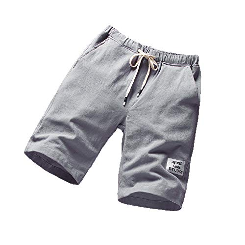 FKSESG Men's Pants Beach Pants Sports Breathable Pants Fitness Running Pants Gray