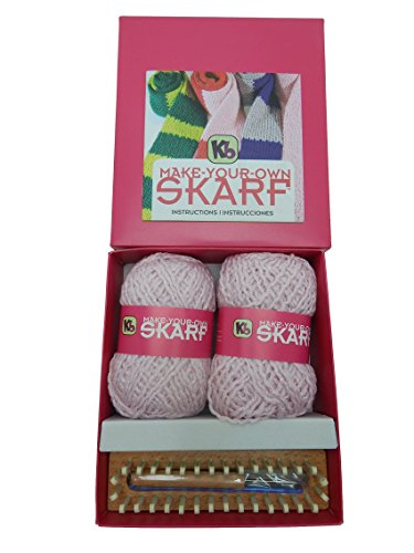 Authentic Knitting Board Skarf Kit/Glitter Yarn, Pink by Authentic Knitting Board