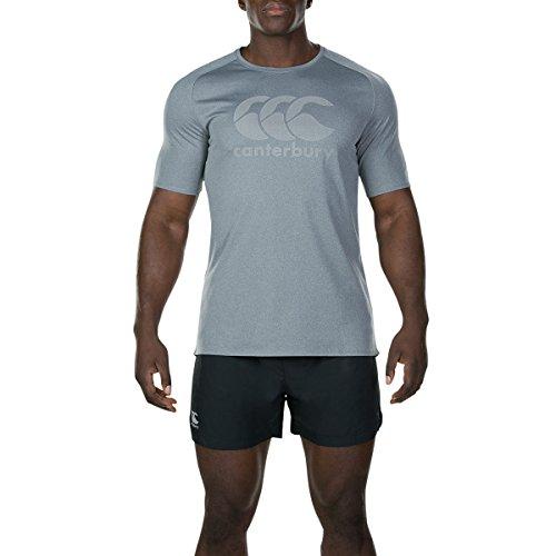 Canterbury Core Vapodri Poly Logo T-Shirt - SS19 - Large - Static Marl (Canterbury Futon)