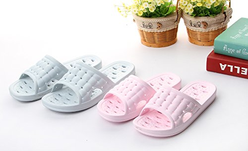 Men's and Women's Non-Slip Bathroom Shower Slippers With Foot Massage Fashion Sandal Light Grey tfzL2wDmHr