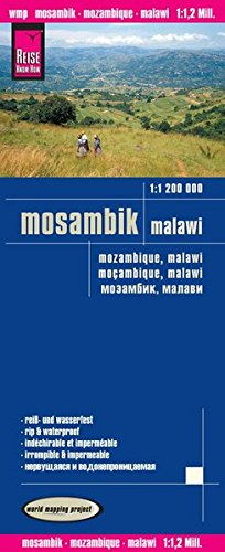Mozambique and Malawi 2016 : Rip & Waterproof Map by Reise Know-How (English, Spanish, French, German and Russian Edition)