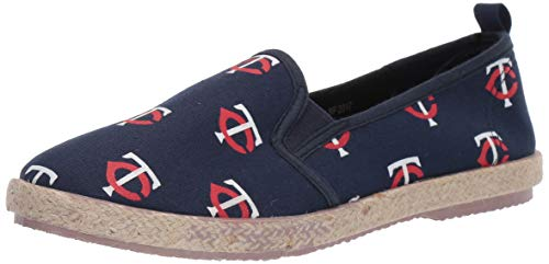 (FOCO MLB Minnesota Twins Women's Espadrille Canvas Shoes, X-Large, Team Color)