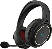 XIBERIA Wireless Gaming Headset for PS5,PS4,PC with Microphone,Lossless 2.4GHz Ultra-Low Latency,Double Chambe