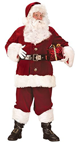 Plus Deluxe Santa Suit (Fun World Costumes Men's Plus-Size Plus Size Adult Super Deluxe Santa Suit, Red/White, X-Large)