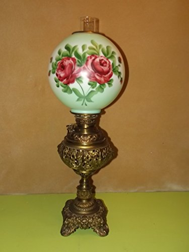 Antique - The Miller Lamp - Gone With The Wind Hurricane Parlor Lamp