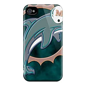 AlissaDubois iPhone 5 5s Scratch Resistant Hard Cell-phone Case Custom Colorful Miami Dolphins Image [ivO19885Ebza]