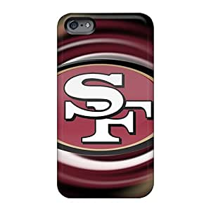 IanJoeyPatricia Apple Iphone 6 Durable Hard Phone Covers Allow Personal Design Trendy San Francisco 49ers Pattern [KGk4338ciGZ]