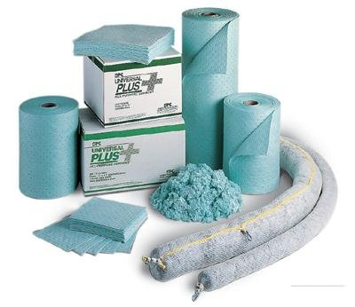 Brady USA UN1113 Brady 12 X 12 SPC Universal Plus Green 3-Ply Surfactant Treated Polypropylene Dimpled Heavy Weight Sorbent Pad, Plastic, 1'' x 150'' x 13'' by Brady USA