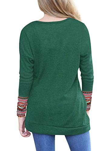Dayumoo Shirt Bleu pour Longues Longues T Manches Femmes Manches q4vpq