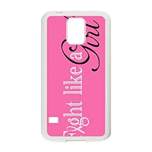 fight like a girl Phone Case for Samsung Galaxy S5 Case by runtopwell