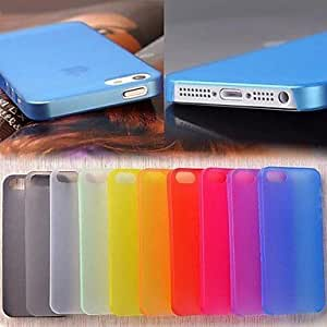 LX 0.3mm Ultrathin Scrub Back Case for iPhone 5/5S Phone Cases Color Blue