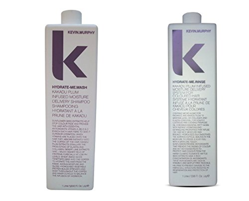 Kevin Murphy Hydrate Me Wash and Rinse combo set liter size 1000 ml/33.8 Fl Oz Liq. each by Kevin Murphy