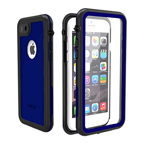 CellEver iPhone 7/8 Case Waterproof Shockproof IP68 Certified SandProof Snowproof Full Body Protective Cover Fits iPhone 7 and iPhone 8 (4.7
