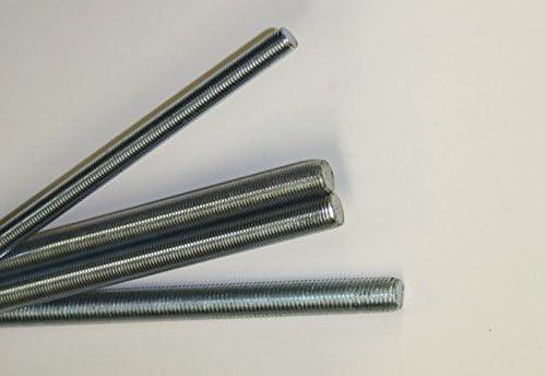 Stahl verzinkt M12 Linksgewinde 1 Stk Gewindestange DIN 975 Stahl 8.8