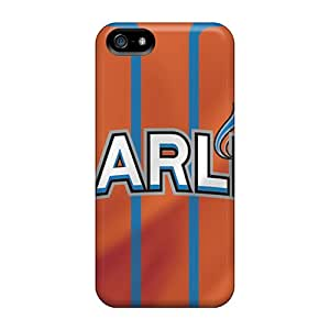 Great Hard Phone Cases For Iphone 5/5s With Customized Fashion Miami Marlins Series InesWeldon