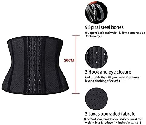 Yukefeng Mujer Latex Alta Cors/é Reductor Adelgazante Largo Torso Waist Trainer Corset Fajas Reductoras de Cintura