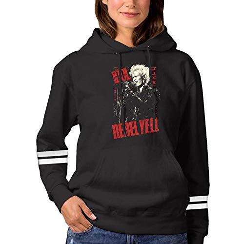 ANNAA NAME Men Women Sweatshirt Hoodie Billy Rebell Yell Idol Fashion Long Sleeve T-Shirt Black -