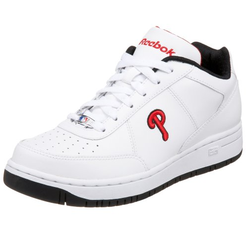 (Reebok Big Kid MLB Clubhouse Exclusive Sneaker,Phillies - White/Black/Black/Red,4 M US Big Kid)