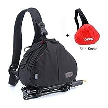 Outlife Caden K1 Waterproof Bag Case Crossbody Messenger Shoulder Bag Black for Canon Nikon DSLR Camera