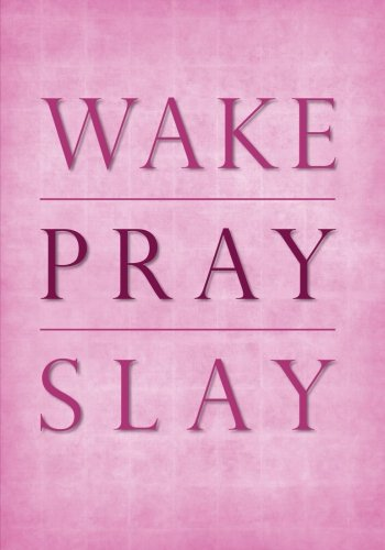 Wake Pray Slay Undated Daily Planner - 7x10 - Softcover: Empowering Inspirational Quote Cover Planner with To Do List, Goal Tracker, Habit Tracker and and Organizers with Calendars for Women