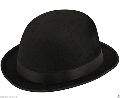 Derby Hat - Black (Pack of 2) (Bowler Hat)