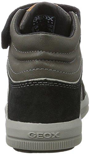 Geox J Arzach C, Zapatillas Para Niños Gris (Dk Grey/black)