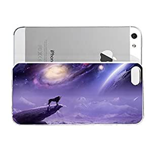 Janmaons iPhone 5/5s Case - Digital Art - Roaring Lion On A Cliff Case for O7uck iPhone
