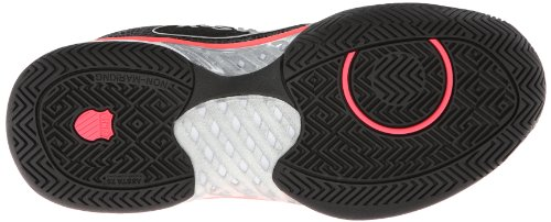 K-Swiss Women's Ultra Express Tennis Shoe,Black/Neon Red/White,6 M US