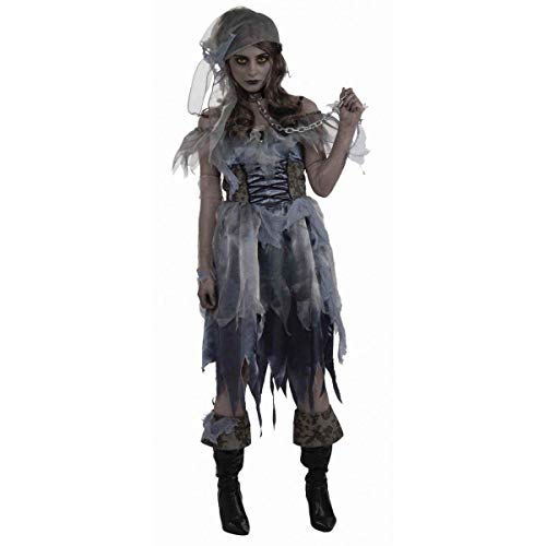 Bristol Novelty AC617 Zombie Pirate Lady Costume, UK -