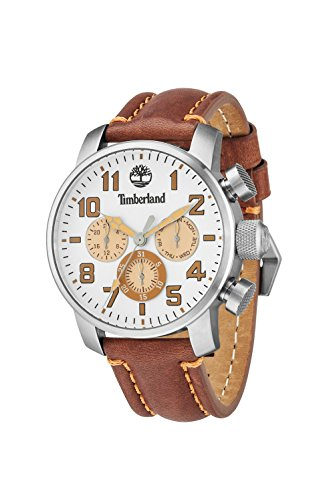 Timberland 14439JS-07 Mens Mascoma Brown Leather Strap Watch