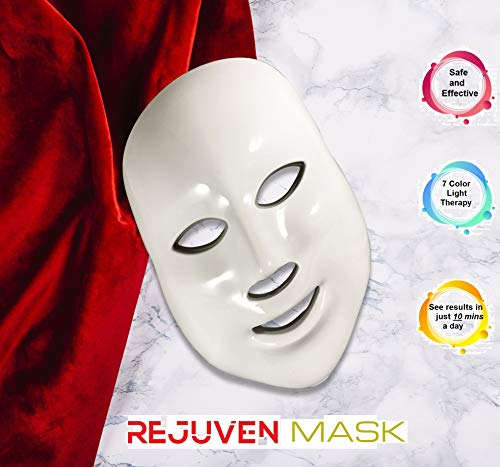 Led Face Mask - Rejuven Mask LED Light Therapy Mask for Anti-aging, Brightening, Improve Wrinkles. Tightening and Smoother Skin by Lift Care (Image #5)