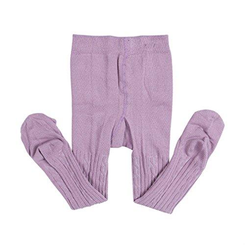 8871753c93f63 Baby Toddler Kids Girls  Knit Cotton Tights Pantyhose Leggings Stocking  Pants (Purple