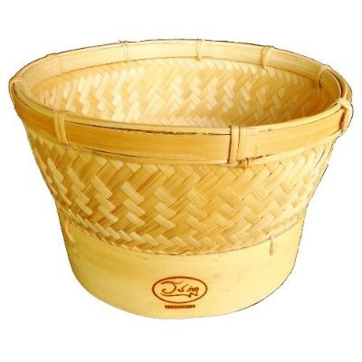 Thai New Idea Automatic Sticky Rice Bamboo Steamer Basket for Use with Electronic Rice Cooker by Thai New Idea