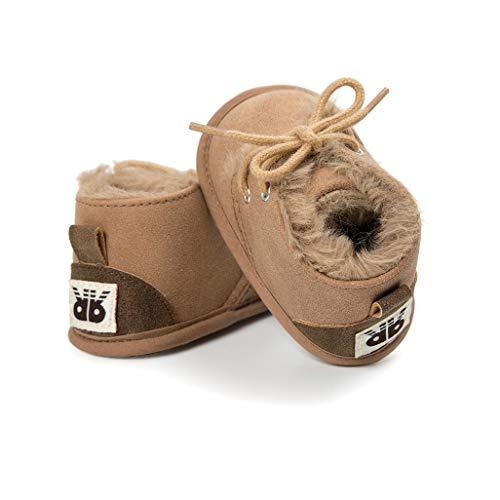 Niñas Recién Auxma De Para Pequeños Bebés Nacidos Suela Blanda Niños Grueso Marrón Invierno zapatos Bebé calzado Botas fwwXcHqWx7