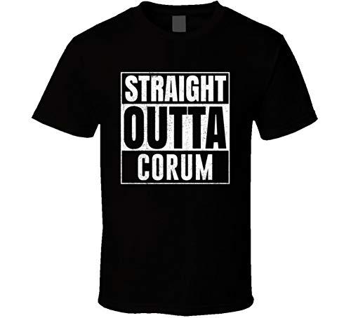 (Straight Outta Corum Turkey City Grunge Parody Cool T Shirt L Black )
