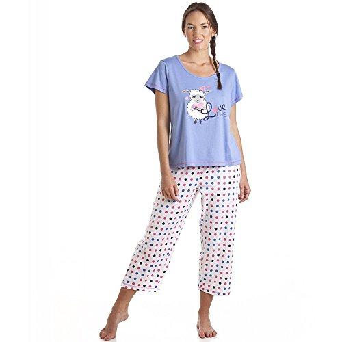 """Pijama con estampado de corderita """"Love Ewe�?- Blanco y azul Azul"""