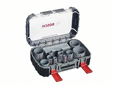 Bosch 2608580887 Coffret de 17 Scies-trà © pan bimà © tal HSS universal 20/ 22/ 25/ 32/ 35/ 40/ 44/ 51/ 60/ 64/ 76 mm