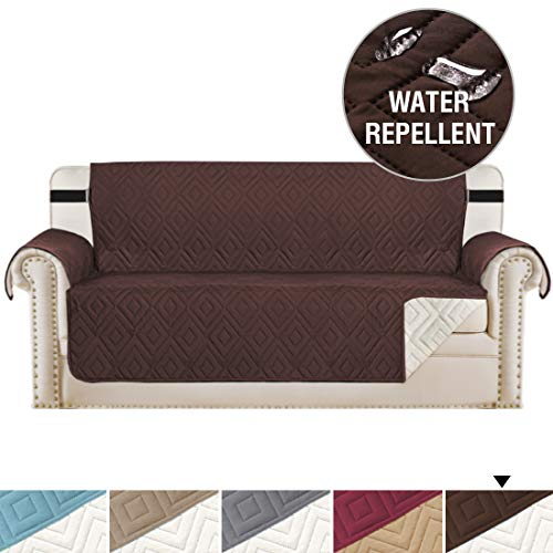 Oversized Sofa Protector Reversible Couch Slipcover Furniture Protector, 2 Inch Elastic Strap, Seat Width Up to 78