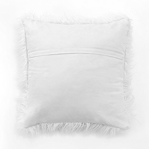 Miulee Pack of 2, Christmas Decorative New Luxury Series Merino Style White Fur Throw Pillow Case Cushion Cover for Sofa Bedroom Car 18 x 18 Inch 45 x 45 Cm