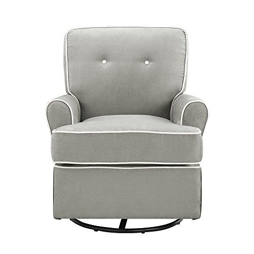 Baby Relax The Tinsley Nursery Swivel Glider Chair, Grey (Baby Relax The Tinsley Nursery Glider Chair)